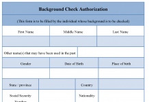 Background Check Authorization Form