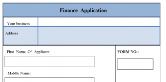 Finance Application Form