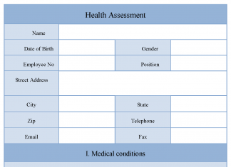 Health Assessment Form