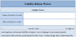 Liability Waiver Form