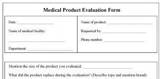 Tag: Sample Medical Product Evaluation Form