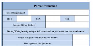 Parent Evaluation Form