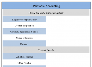 Printable Accounting Form