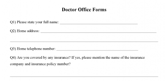 Doctor Office Form