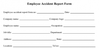 Employee Accident Report Form