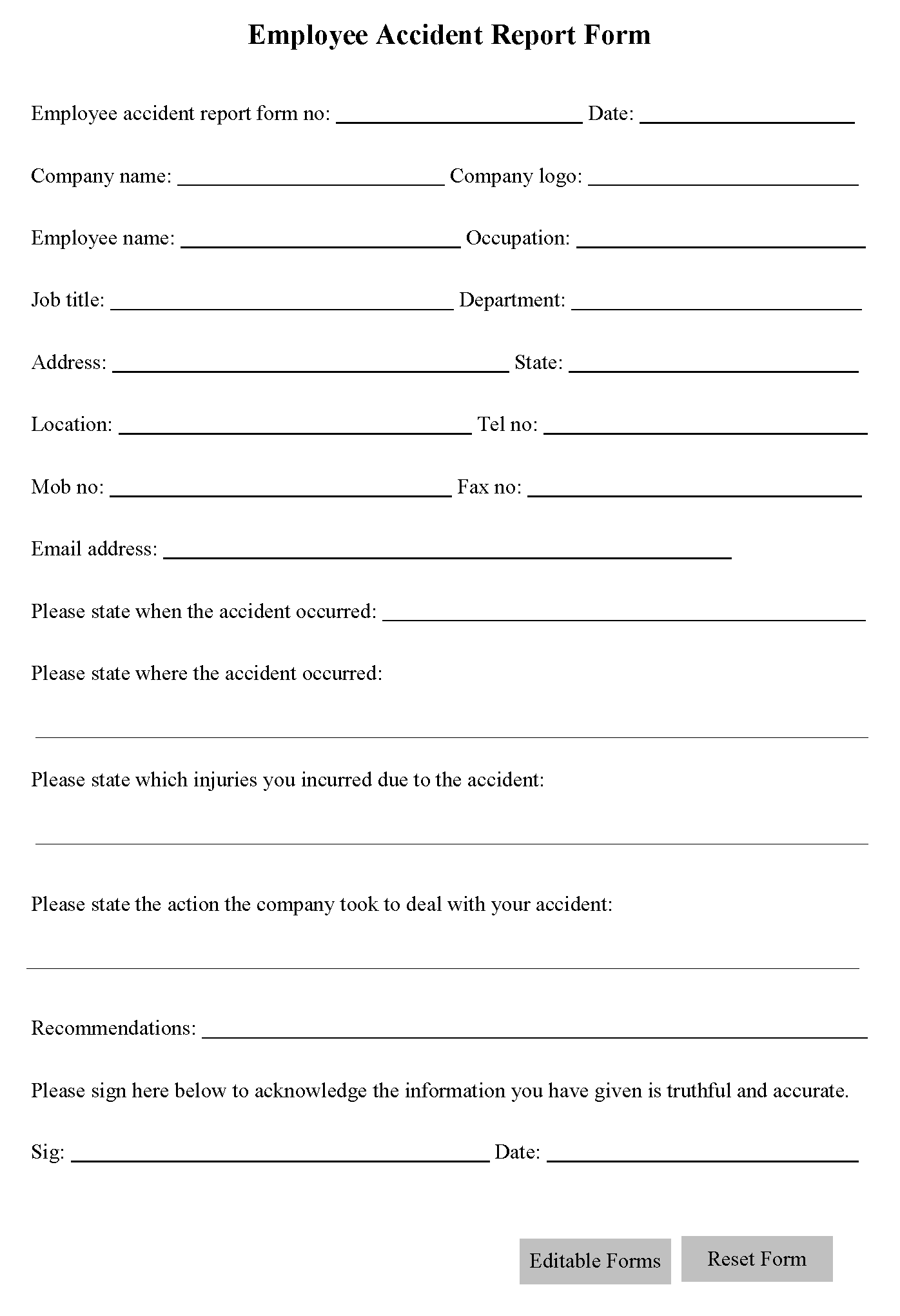 doc report form template doc accident doc11961548 accident report form template doc12751650 report form template