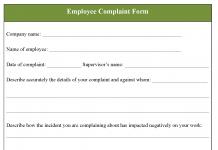 Employee Complaint Form