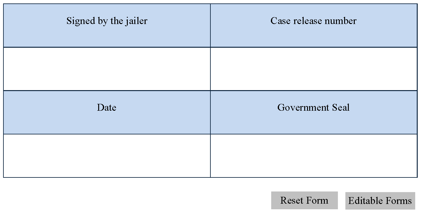 jail release form editable forms