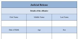 Judicial release form