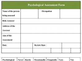 Psychological Assessment Form