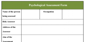 Psychological Assessment Form