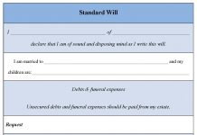 Standard Will Form