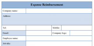 Expense Reimbursement Form