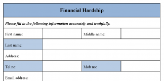 Financial Hardship Form