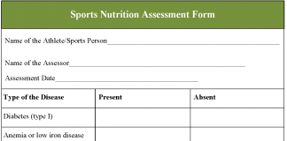 Sports Nutrition Assessment Form