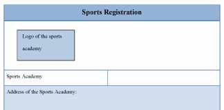Sports Registration Form