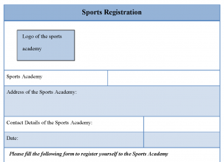 Sports Registration Form