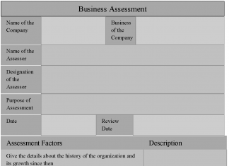 Business Assessment Form
