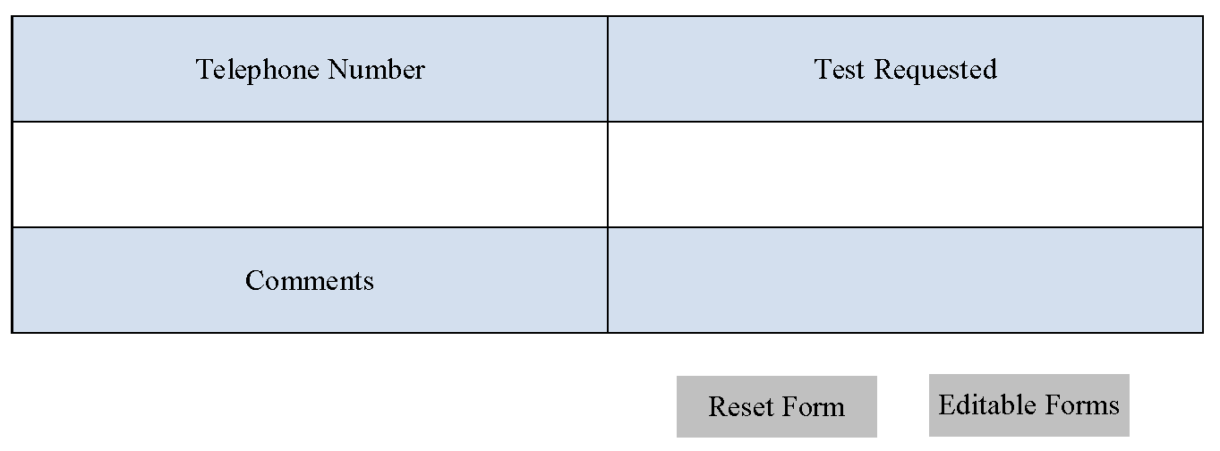 Lab Requisition Form