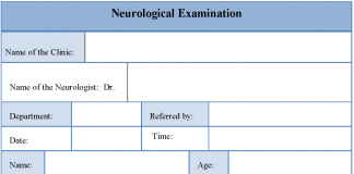 Neurological Examination Form