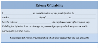 Release of Liability Form