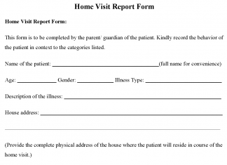 Home Visit Report Form