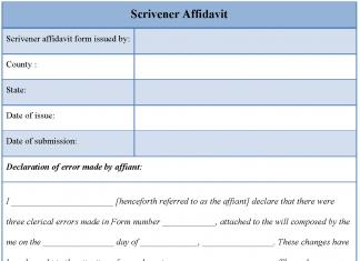 Scrivener Affidavit Form