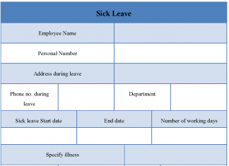 Sick Leave Form