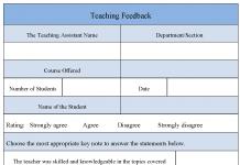 Teaching Feedback Form