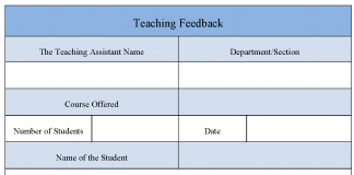 Teaching Feedback Form