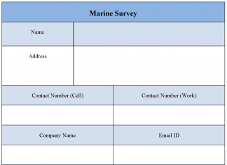 Marine Survey Form