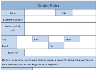 Eviction Notice Form