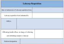 Labcorp Requisition Form