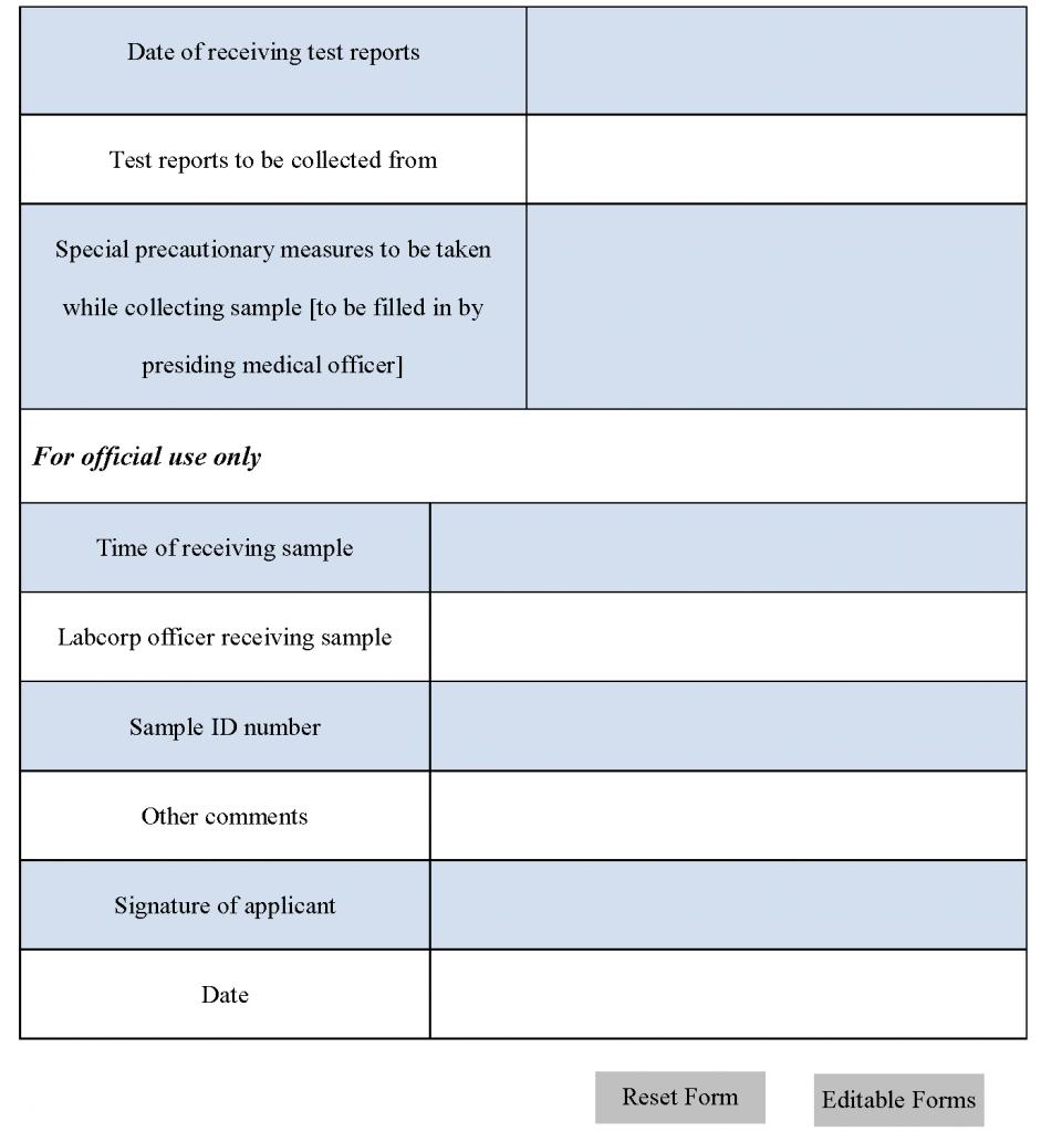 LabCorp Requisition Form
