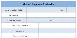 Medical Employee Evaluation Form