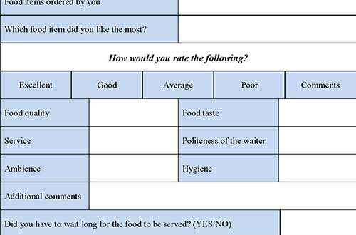evaluation essay on restaurants