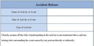 Accident Release Form