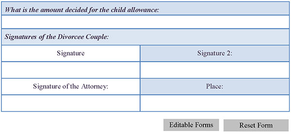 Divorce Decree Form