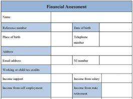 Financial Assessment Form