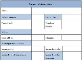 Financial Assessment Form