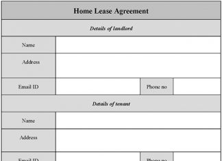 Home Lease Agreement Form