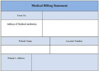 Medical Billing Statement Form