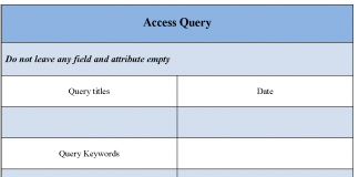 Access Query Form