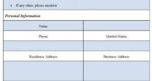 Asset Statement Form