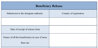 Beneficiary release form