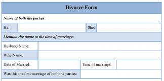 Divorce form