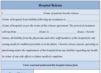 Hospital Release Form