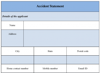 Accident Statement Form