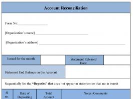 Account Reconciliation Form