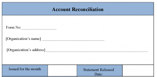Account Reconciliation Form